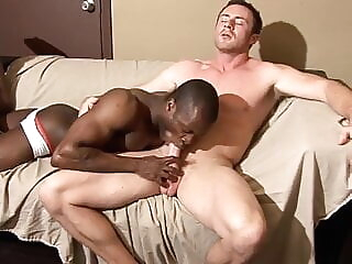 bareback blowjob interracial